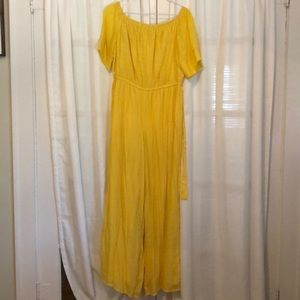 Yellow off the shoulder Tacera jumpsuit
